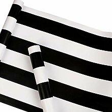 Selbstklebende Vinyl-Tapete, schwarz und weiß