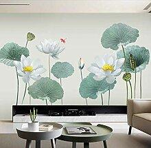 Selbstklebende warme Lotus Wandtapete Tapete