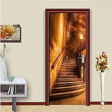 Selbstklebender Türaufkleber Goldener Korridor