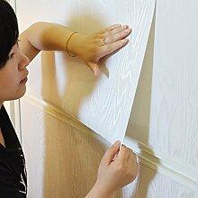 Selbstklebendes Vinyl weiß Holz dick Kontakt Papier für Küche Schränke Tisch Schrank Regalen Arbeitsfläche Schreibtisch Kommode Möbel Kunst und Handwerk Projekt 24von 198,1cm