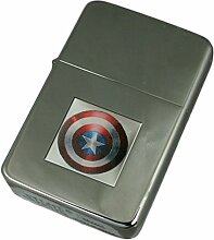Select Gifts Gravur Feuerzeug Captain America Hero