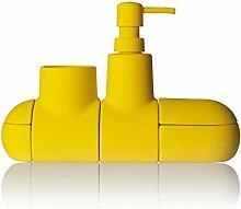 Seletti - Bad Accessoires Submarino - U-Boot - Gelb (4-teilig)