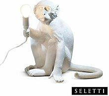 Seletti Monkey Lamp Affenförmig Lampe Weiß