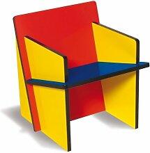 SELETTI Vorratsdose Bauchair MDF montieren Stuhl, Holz, schwarz/blau/gelb/rot, 70x 7073cm