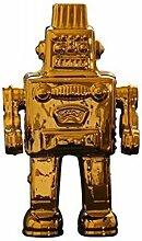 Seletti Vorratsdose Limited Gold Edition My Robot Kuriositäten, Porzellan, 17,4x 12,4x 30cm
