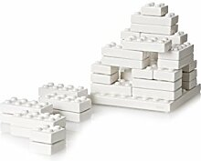 SELETTI Vorratsdose My Bricks Kuriositäten, Porzellan, Weiß, 39