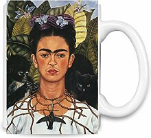 Self Portrait With Necklace Frida Kahlo Painting