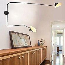 SELMAL Wandlampe, E26 Schwarz Retro Wandlampe mit