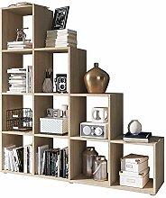 Selsey Kassi - Bücherregal/Treppenregal 4x4 mit