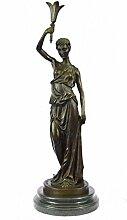 Selten Handgemachte Bronze Skulptur Bronze Statue Art Deco Art Nouveau Signed Römerin Marmor Semi Nude Jahrgang-EUxn-2042A- Decor Sammler Geschenk