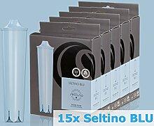 Seltino BLU - 15 stück im Packung - Ersatzwasserfilter für Jura Kaffeevollautomat wie Claris Blue ENA Serie Qualität (5x 3-er Pack))