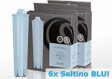 Seltino BLU - 6 stück im Packung - Ersatzwasserfilter für Jura Kaffeevollautomat wie Claris Blue ENA Serie Qualität (2x 3-er Pack))