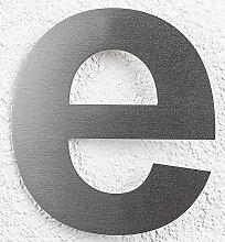 SEM Hausnummer e Edelstahl fein gebürstet 16cm