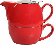 Sema 99803egoïste Kugel Keramik Rot (Teekanne