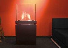 Semi Flame 1,7 L schwarz gebürsteter Edelstahl Ethanolkamin von Radius Design - 533 A