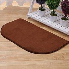 Semi-Matte/Wohnzimmer Küche Tür Tür Matte/Halle-Fußmatten/Wasserabsorbierenden rutschfeste Badematte-B 60x90cm(24x35inch)
