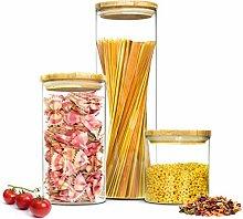 Sendez® 3 Vorratsdosen 2,2 + 1,3 + 0,6 Liter mit