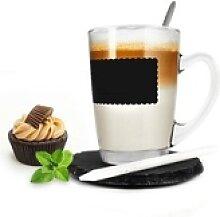 Sendez Latte-Macchiato-Glas Kaffeeglas 4tlg mit