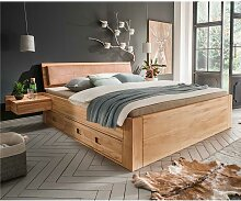 Seniorenbettgestell aus Kernbuche Massivholz