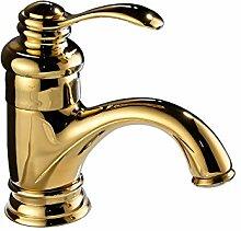 senlesen Gold poliert Hebel Badezimmer Schiff Waschbecken Wasserhahn Deck montieren WC Armatur