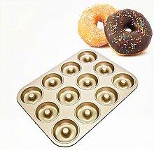 SenLu 12-Cavity Kohlenstoffstahl Donut Pan Mold