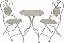SENLUOWX Bistro-Tisch und Stühle Garten-3-teilig
