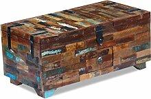 SENLUOWX Couchtisch Box Truhe mit 3Fächern