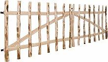 SENLUOWX doppelt Zaun Gate Hazel Holz Garden Gate Barriere 300x 90cm