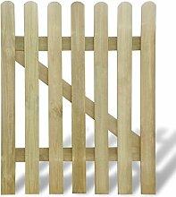 senluowx Gartentor aus Holz 100x 120cm