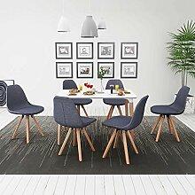 SENLUOWX Reihe von Esstisch und Stühle 7Stück