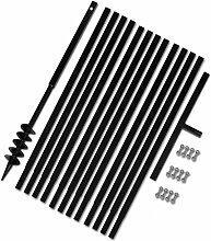 SENLUOWX Spaten und Erdbohrer manuell 80 mm mit
