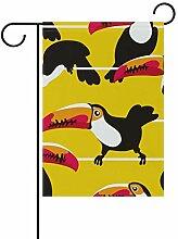 SENNSEE Garten-Flagge, Tropische Toukan-Vogel,