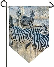 SENNSEE Hausflagge Afrika, Tier, Zebra, 30,5 x