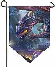 SENNSEE Hausflagge Cool Tier Dinosaurier Garten
