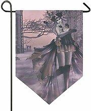 SENNSEE Hausflagge Einhorn Mädchen Garten Flagge