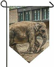 SENNSEE Hausflagge Elefant Mammal Tier Garten