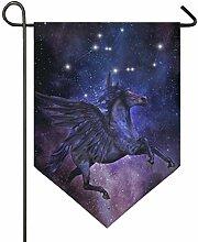 SENNSEE Hausflagge Galaxie Pferde Sternbild Garten
