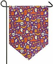 SENNSEE Hausflagge Halloweenmuster Totenkopf