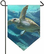 SENNSEE Hausflagge Lustige Meerwasserschildkröte