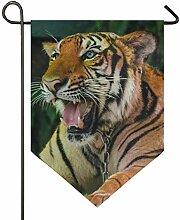 SENNSEE Hausflagge Mammal Wildtiere Tiger Garten
