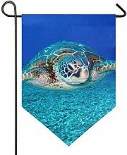 SENNSEE Hausflagge Meeresschildkröte