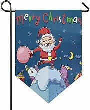 SENNSEE Hausflagge Merry Christmas,