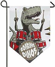 SENNSEE Hausflagge mit Dinosaurier-Motiv, 30,5 x