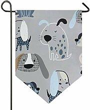SENNSEE Hausflagge mit Hundemotiv, 30,5 x 45,7 cm,