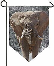SENNSEE Hausflagge Natur Tier Elefant Garten