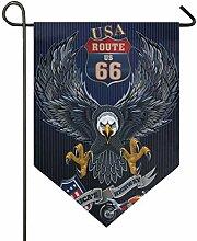 SENNSEE Hausflagge Patriotische USA Adler Garten
