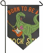 SENNSEE Hausflagge Rock Dinosaurier Garten Flagge