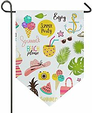 SENNSEE Hausflagge Sommerfahne Urlaub Garten