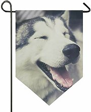 SENNSEE Hausflagge süße Husky Hund Garten Flagge