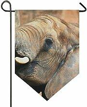 SENNSEE Hausflagge Tierfahne Afrika Elefant Garten